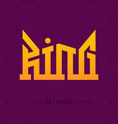 King Crown design element vector