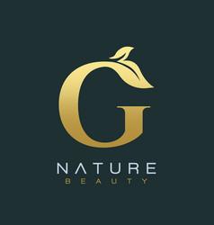 letter g luxury letter logo design icon vector image