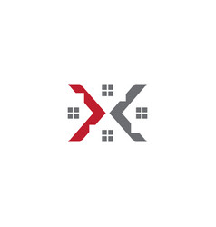 Letter x home logo design template vector