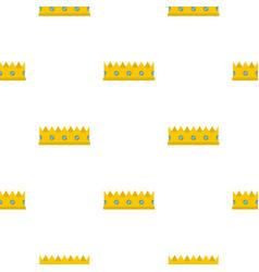 Little crown pattern flat vector