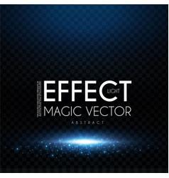 magic scene elegant shining space with light vector image