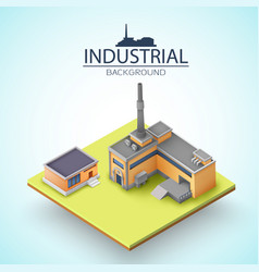 Manufacturing buildings background vector