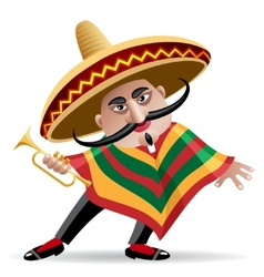 mexican trumpeter vector image