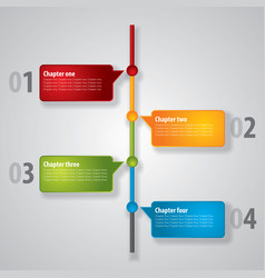 modern diagram poster vector image