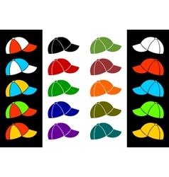 Multicolored baseball cap vector image
