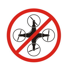 No drones sign drones free area drones flights vector