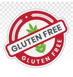 No-gluten gluten free food sticker label flat vector