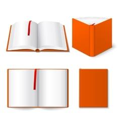 Open book templates set vector