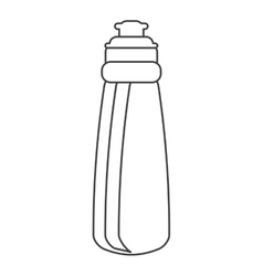 Outline bottle water hydration fitness gym vector