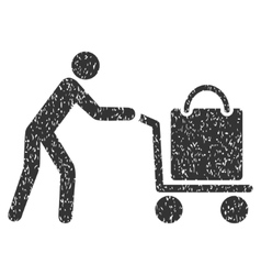 Passenger trolley icon rubber stamp vector