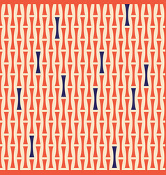 pattern abstract geometric shapes orange and blue vector image