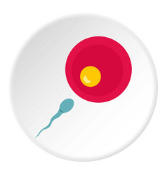 Petri dish with fertilized eggs icon circle vector