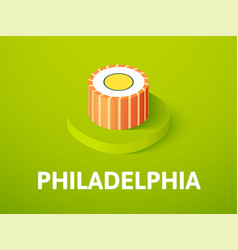 Philadelphia isometric icon isolated on color vector