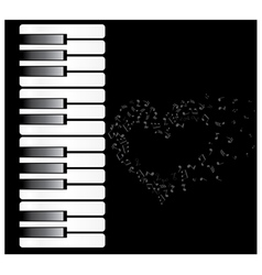 Piano heart vector