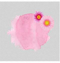 Pink stain with gerber transparent background vector