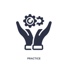 Practice icon on white background simple element vector
