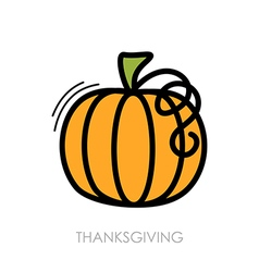 Pumpkin icon Harvest Thanksgiving vector