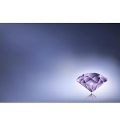 Purple diamond vector image