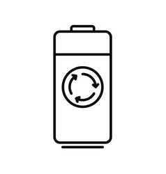 recycle battery icon outline style vector image