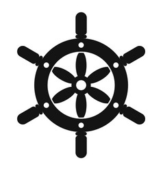 Ship wheel icon simple style vector
