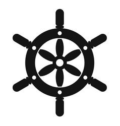 ship wheel icon simple style vector image