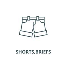 Shortsbriefs line icon linear concept vector