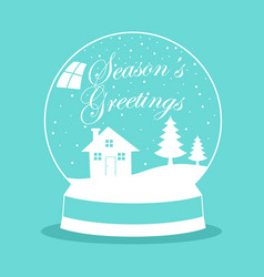 Snow globe for christmas theme vector