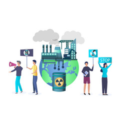 Stop pollution concept for web banner vector