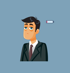 tired business man with burnout syndrome vector image