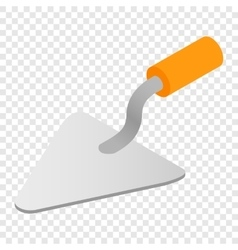 Trowel isometric 3d icon vector