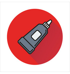 Tube container toothpaste cream icon isolated vector