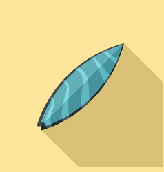 wave blue surfboard icon flat style vector image