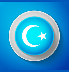 white star and crescent - symbol of islam icon vector image