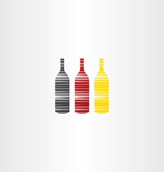 wine bottles stylized icons vector image