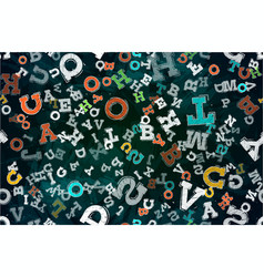 abstract letters background vector image vector image