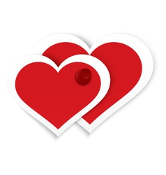 Heart stickers push pinned vector image