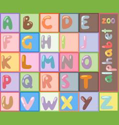 Stylized font abc type design letter vector