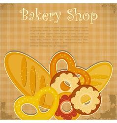 Bakery Cover menu vector image