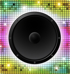 Colorful Disco Party Design vector image