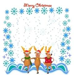 dancing deers vector image vector image