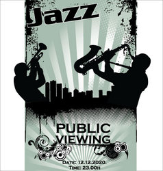 Jazz musician silhouettes vector image vector image