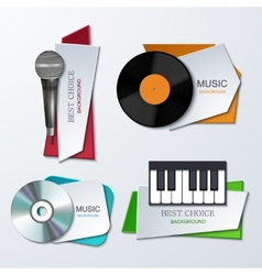 modern music banners set vector image