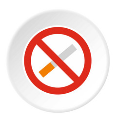 no smoking icon circle vector image