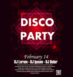 party poster template vector image