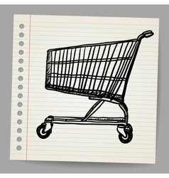 Scribble shopping cart vector image vector image