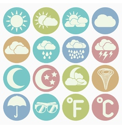 white icons weather vector image vector image
