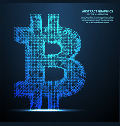 abstract bitcoin sign vector image