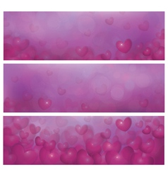 pink banners vector image