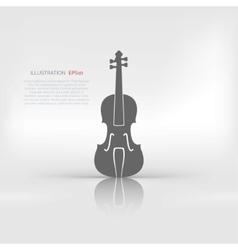 Violin Icon Music background vector image