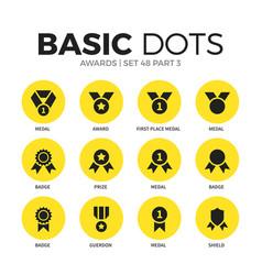 awards flat icons set vector image